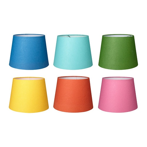 ORTALA Shade IKEA The paper shade provides a diffused and decorative light.