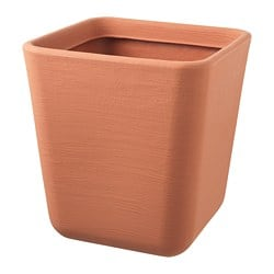 ÖSTLIG plant pot, indoor/outdoor red-brown