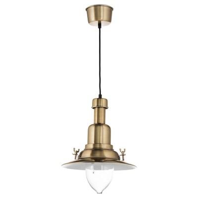 "OTTAVA pendant lamp brass color 60 W 12 "" 3 ' 11 """