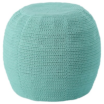 OTTERÖN Pouffe cover, indoor/outdoor, light turquoise, 18 7/8 ""