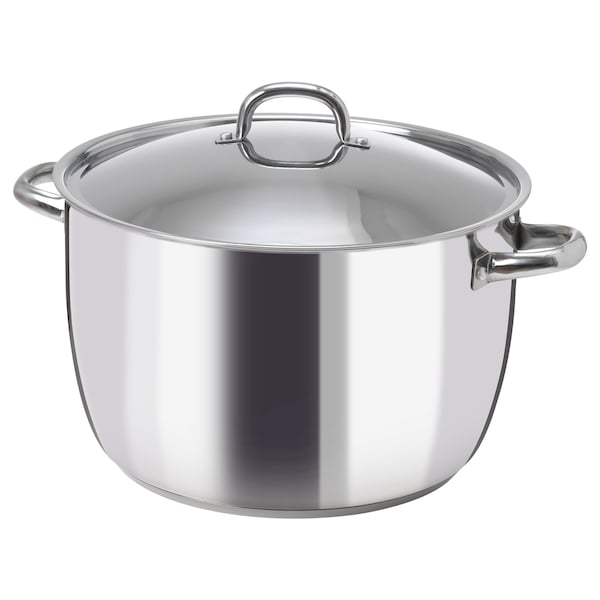 OUMBÄRLIG Pot with lid, 15.9 qt