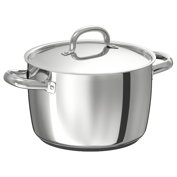 OUMBÄRLIG Pot with lid, 5.3 qt