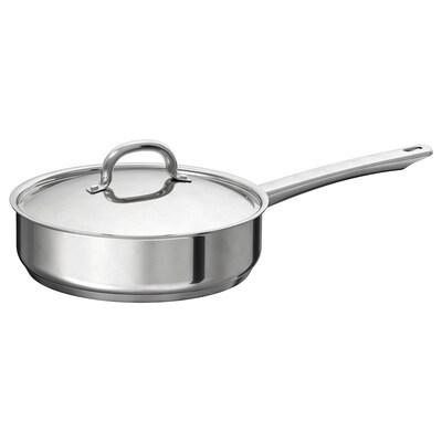 """OUMBÄRLIG sauté pan with lid 2 ¾ """" 9 ½ """""""