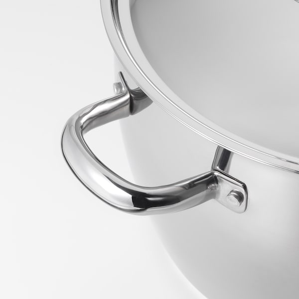 OUMBÄRLIG Stock pot with lid, 10.6 qt
