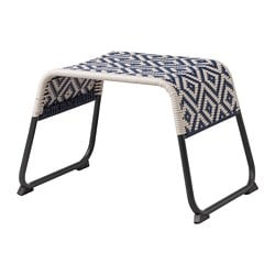 ÖVERALLT footstool, outdoor blue