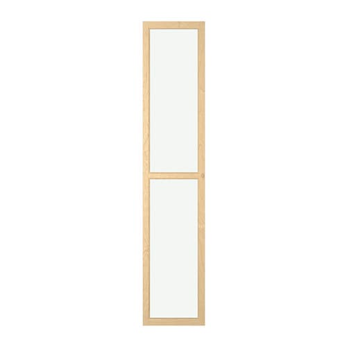 OXBERG Glass door IKEA Adjustable hinges allow you to adjust the door horizontally and vertically.