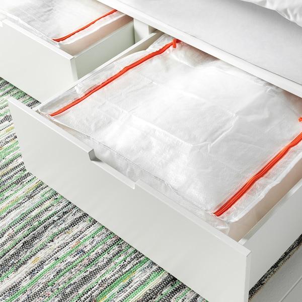 IKEA PARKLA Storage Bag Zip Closure Folds Flat with Top Access Durable 71 litre