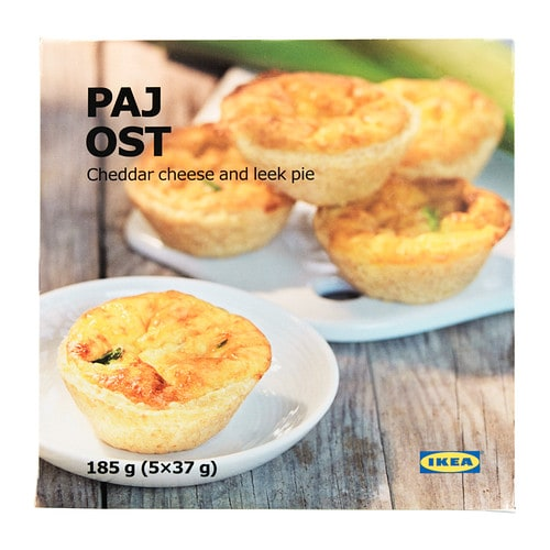 PAJ OST Cheese pie IKEA A short-crust pastry with a distinct but balanced taste of ripened cheese and leek.