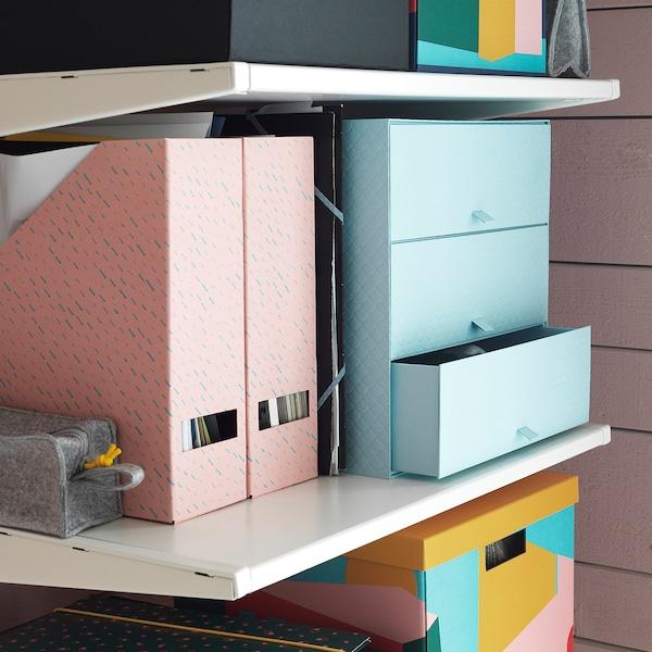 "PALLRA Mini chest with 3 drawers, light blue, 12 ¼x10 ¼x12 ¼ """