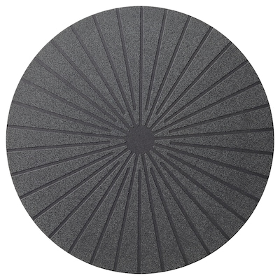 PANNÅ Place mat, black, 15 ""