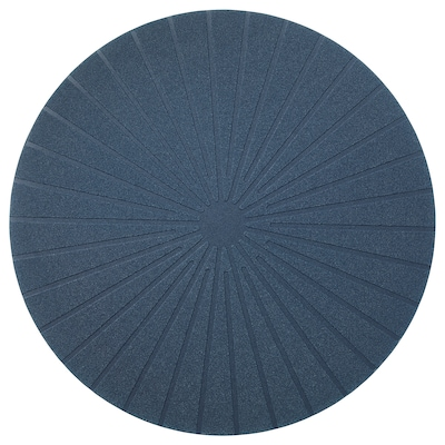 PANNÅ Place mat, dark blue, 15 ""