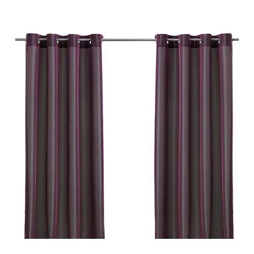 PÄRLBUSKE Curtains, 1 pair IKEA The curtains have an elegant shimmer because two different colors are woven into the fabric.