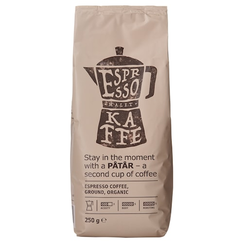 PÅTÅR espresso coffee organic/UTZ certified/100 % Arabica beans 9 oz