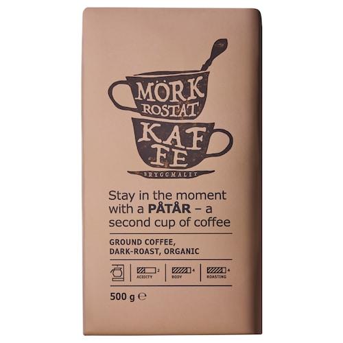 PÅTÅR ground coffee, dark roast organic/UTZ certified/100 % Arabica beans 1 lb 2 oz