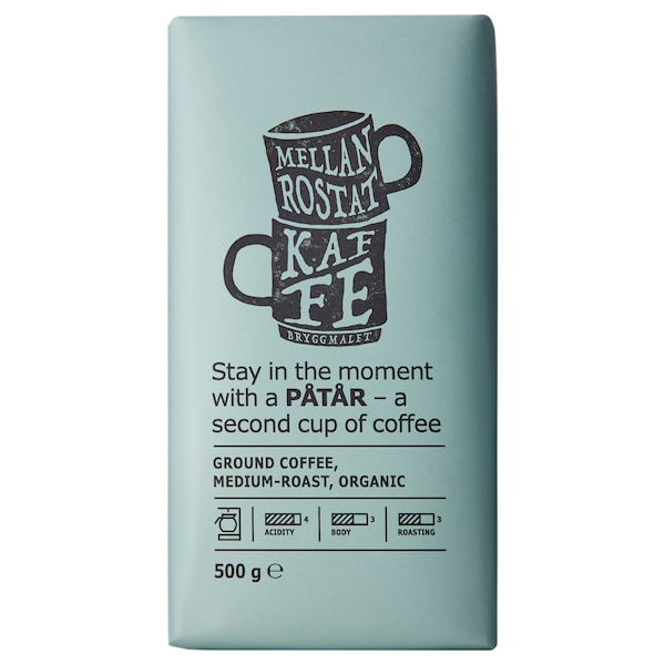 PÅTÅR Ground coffee, medium roast, organic/UTZ certified/100 % Arabica beans