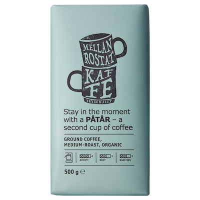 PÅTÅR Ground coffee, medium roast, organic/UTZ certified/100 % Arabica beans