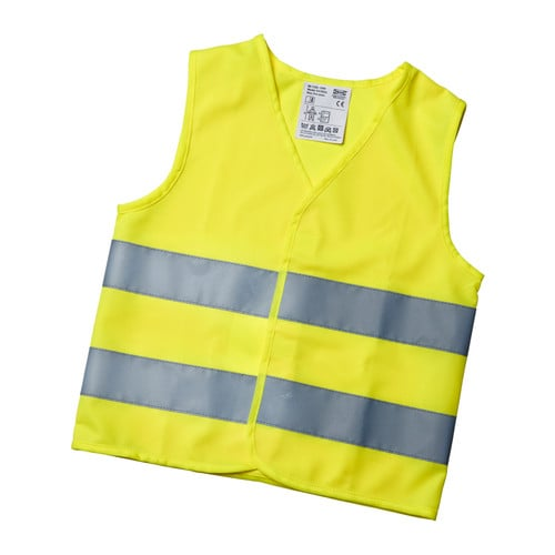 PATRULL Reflective vest IKEA Wearing this brightly colored reflective vest makes you more visible when you're out walking, bicycling, etc.