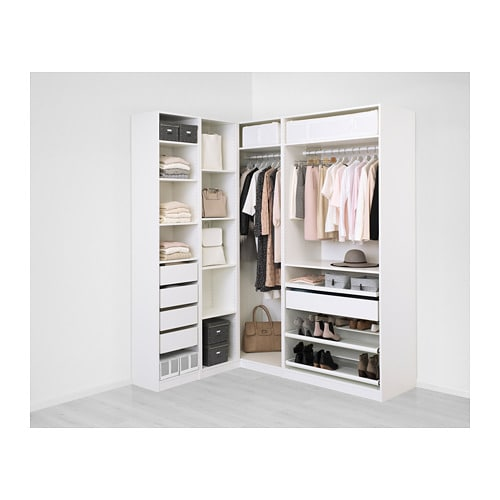pax add on corner unit with 4 shelves white 20 7 8x22 7. Black Bedroom Furniture Sets. Home Design Ideas