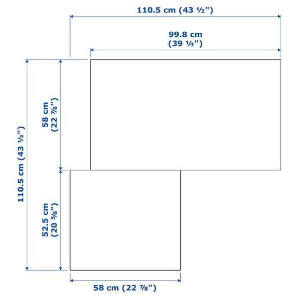 """PAX Corner wardrobe, white/Grimo white, 43 1/2/43 1/2x79 1/4 """""""