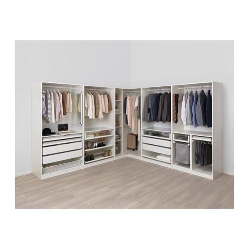 PAX Corner wardrobe, white