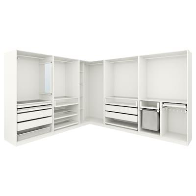 "PAX corner wardrobe white 79 1/4 "" 122 "" 122 """