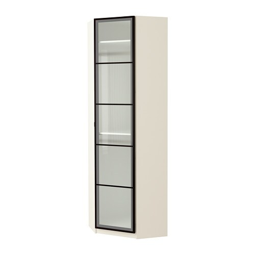 PAX Corner wardrobe IKEA Frame with shallow depth.    Ideal for smaller spaces.  Sized for KOMPLEMENT interior organizers.