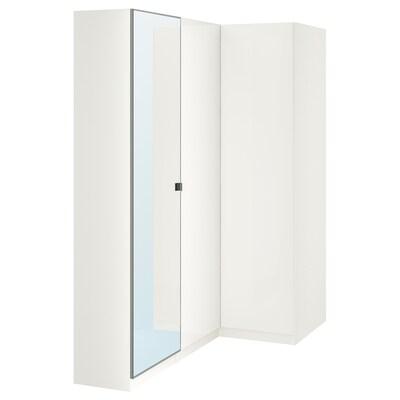 "PAX corner wardrobe white/Fardal Vikedal 34 5/8 "" 63 1/8 "" 79 1/4 """