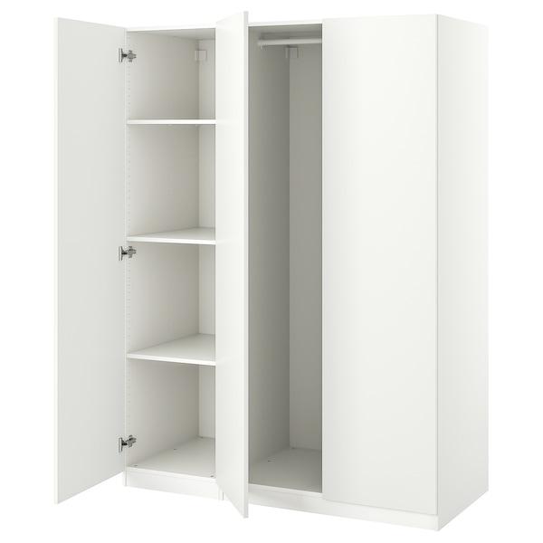 "PAX / FORSAND Wardrobe combination, white, 59x23 5/8x79 1/4 """