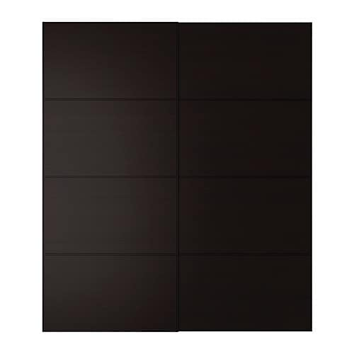 PAX MALM Pair of sliding doors IKEA Sliding doors require less space when open than a standard wardrobe door.