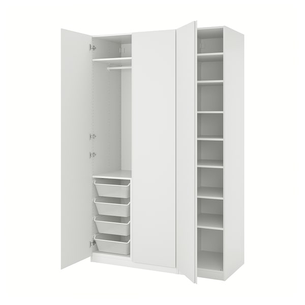 PAX / VIKANES Wardrobe combination, white, 59x23 5/8x93 1/8 ""