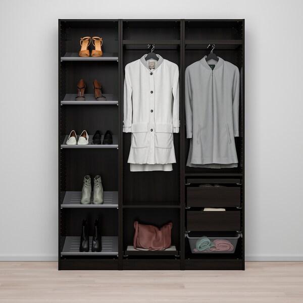 "PAX / VIKEDAL Wardrobe combination, black-brown/mirror glass, 59x15x79 1/4 """
