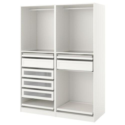 "PAX wardrobe combination white 59 "" 22 7/8 "" 79 1/4 """