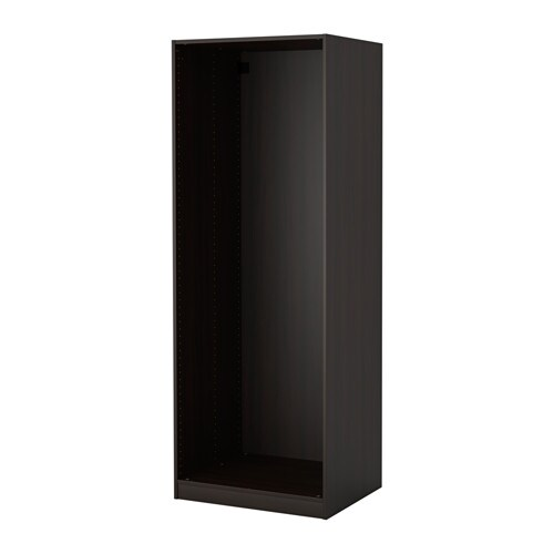 pax wardrobe frame black brown ikea. Black Bedroom Furniture Sets. Home Design Ideas