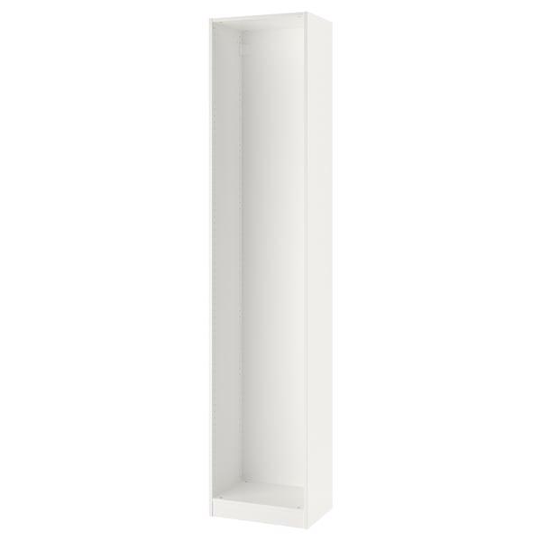 "PAX Wardrobe frame, white, 19 5/8x13 3/4x92 7/8 """