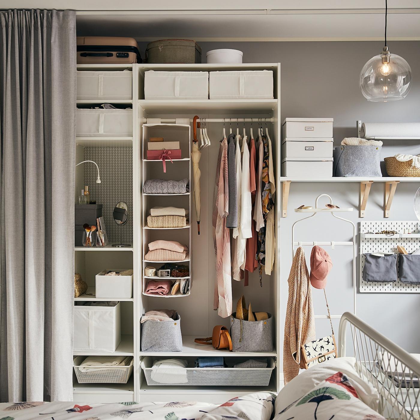 Pax Wardrobe Frame White 39 3 8x22 7 8x79 1 8 Ikea