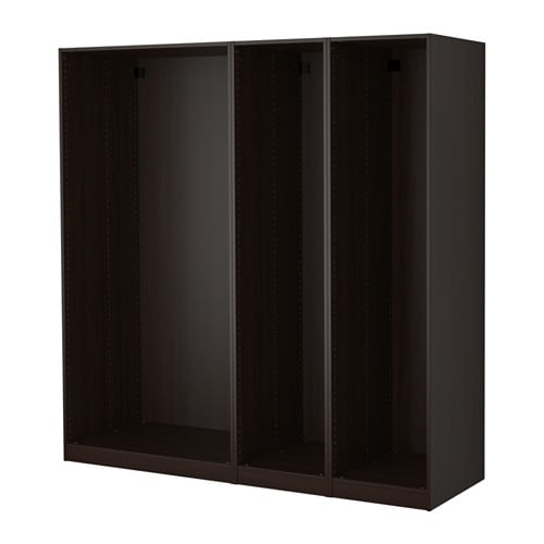 Guardaroba Pax Ballstad Ikea.Pax 3 Wardrobe Frames Black Brown