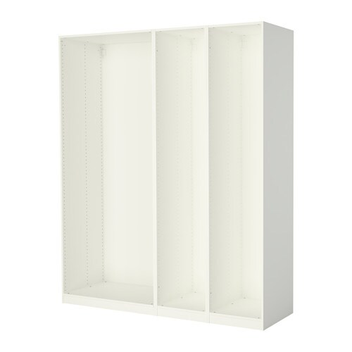 PAX 3 wardrobe frames IKEA If you want to organize inside you can complement with interior organizers from the KOMPLEMENT series.