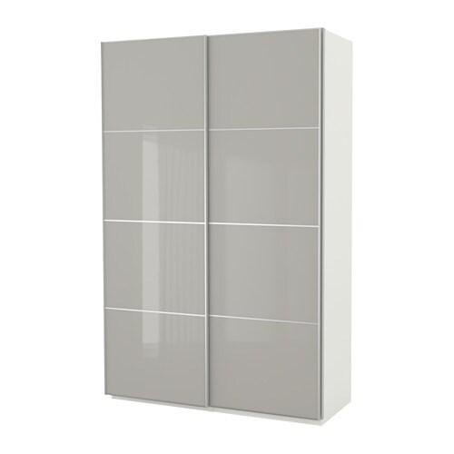 Ikea Grau pax wardrobe ikea