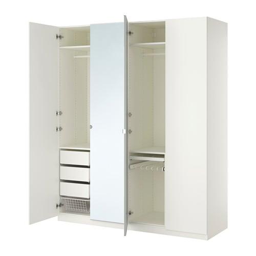 Pax wardrobe standard hinges 200x60x236 cm ikea - Amenagement de placard ikea ...