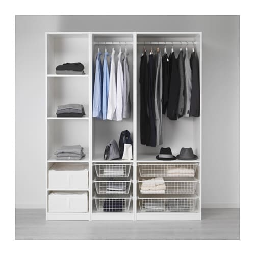 pax wardrobe 175x58x201 cm ikea. Black Bedroom Furniture Sets. Home Design Ideas