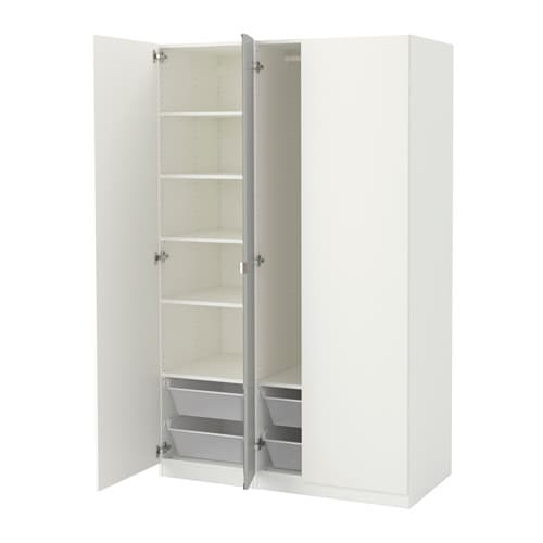 pax wardrobe 49 1 4x23 5 8x79 1 4 ikea. Black Bedroom Furniture Sets. Home Design Ideas