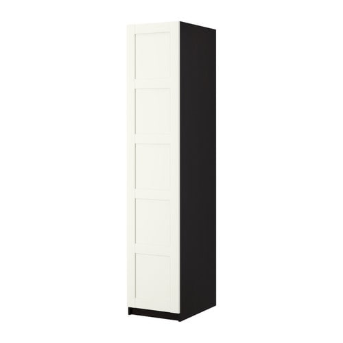 PAX Wardrobe with 1 door IKEA Sized for KOMPLEMENT interior organizers.  Adjustable feet for high stability.