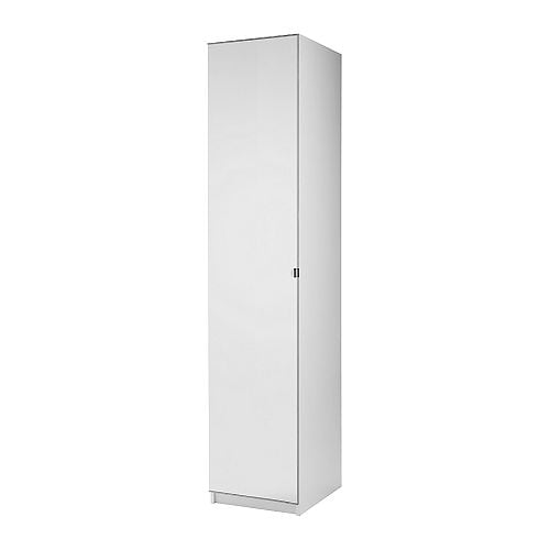 PAX Wardrobe with 1 door IKEA Frame with shallow depth.    Ideal for smaller spaces.  Sized for KOMPLEMENT interior organizers.