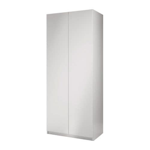 PAX Wardrobe with 2 doors IKEA Frame with shallow depth.    Ideal for smaller spaces.  Sized for KOMPLEMENT interior organizers.