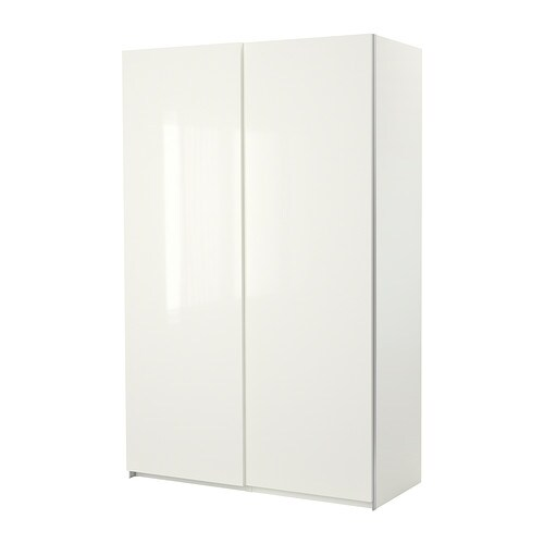 PAX Wardrobe with sliding doors IKEA 10-year Limited Warranty.   Read about the terms in the Limited Warranty brochure.  Frame with shallow depth.