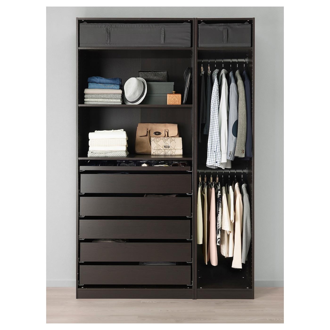 Pax Wardrobe Black Brown 59x22 7 8x93 1 8 Ikea