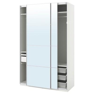 "PAX wardrobe white/Auli mirror glass 59 "" 26 "" 93 1/8 """
