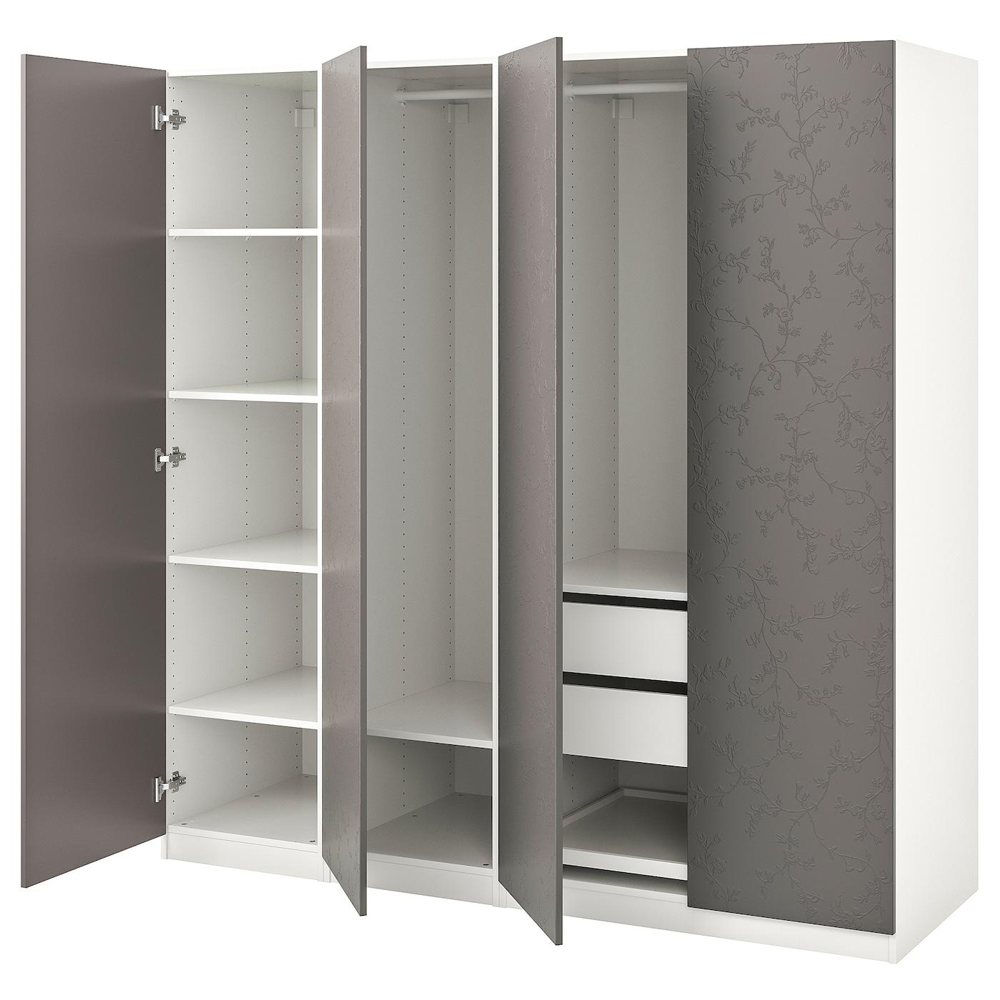 Pax Wardrobe White Flornes Dark Gray 78 3 4x23 5 8x79 1 4 Ikea