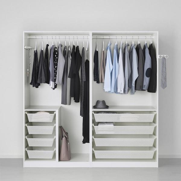 Armadio Pax Ikea 2 Ante.Pax Wardrobe White Hasvik High Gloss White Ikea