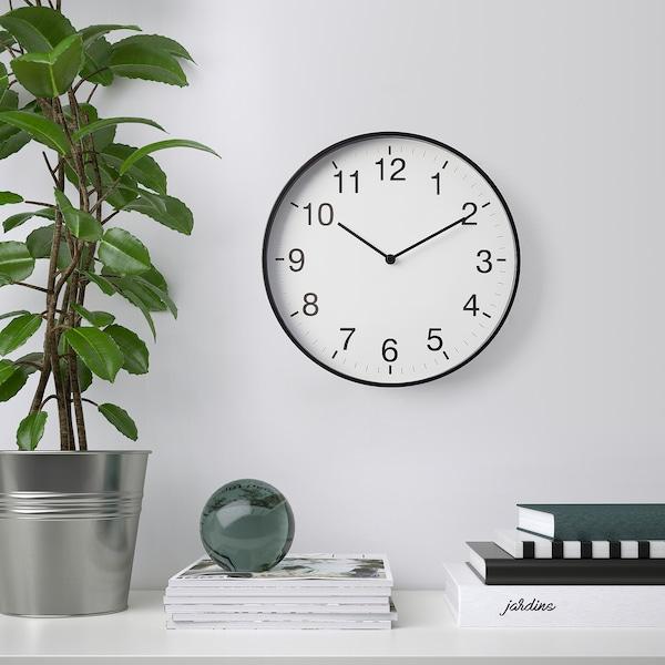 "PEPPAD Wall clock, black, 9 ¾ """